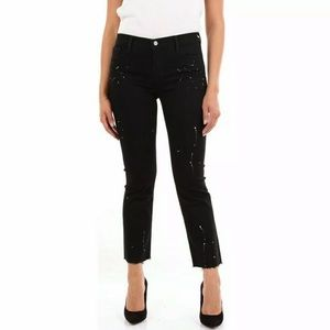 NWT J Brand Betty Bootcut Black Painted Jeans 23